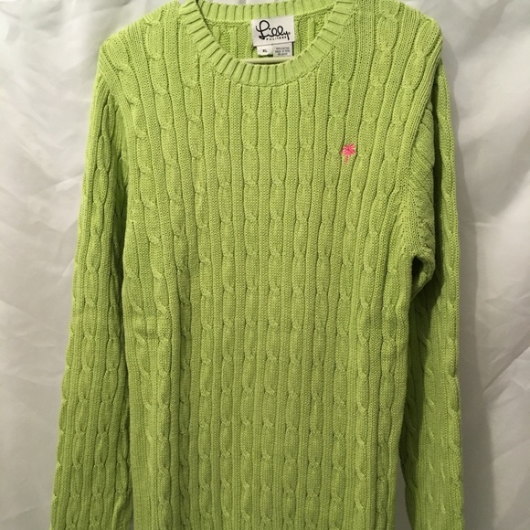 Lilly Pulitzer Sweaters - Lilly Pulitzer Lime Green Cotton Sweater